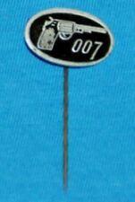 james bond 007 movie pin badge 1960s VINTAGE silver print