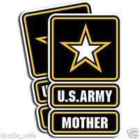 """US Army MOTHER Stickers Mom Military Vinyl Decals 2 Pack 3""""x5"""""""