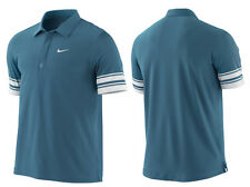 Nike Roger Federer US Open Men's Tennis Polo Blue-White  RARE! L 373298-461