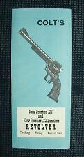 Colt New Frontier .22 & .22 Buntline 1972 manual