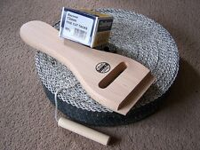One Webb Strainer, Tacks and Black and White Webbing & for upholstery.