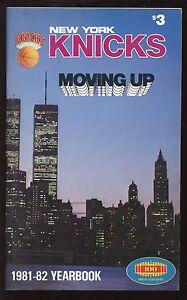 1981-82 NBA Basketball New York Knickerbockers Yearbook EXMT