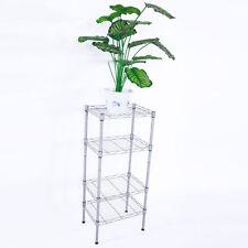 4 Tier Shelves Wire Shelving Rack Shelf Adjustable Unit Garage Kitchen Storage