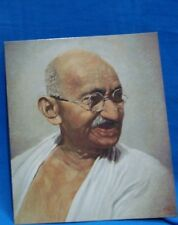 Old Vintage Colour Picture Print of Gandhi from India 1969