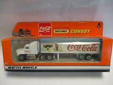 "Matchbox Convoy CY29 Mack Box Truck- white ""Coca Cola"" polar bear, boxed"