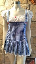RUBIES SEXY DOROTHY WIZARD OF OZ SEQUINED DRESS SEQUIN COSTUME SIZE MEDIUM 6-8