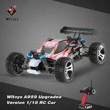 Wltoys A959 Upgraded Version 1/18 2.4G 4WD RTR Buggy RC Car Toy for Gift C0S8
