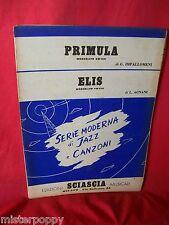 IMPALLOMENI Primula + AGNANI Elis 1951 Spartiti JAZZ