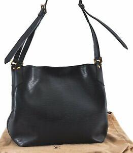 Auth Louis Vuitton Epi Mandara MM Shoulder Cross Body Bag Black M58892 LV C8832