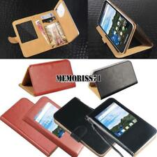 For Various BlackBerry Phones - Flip View Window Cover Stand Wallet Leather Case