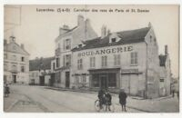 Luzarches Carrefour Des Rue De Paris & St Damier France Vintage Postcard US103