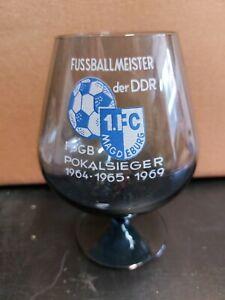 DDR FUSSBALL OBERLIGA 1. FC Magdeburg Glas Cognac Schwenker