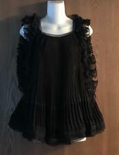 Chloe Ruffled silk organza sleeveless top FR 42 US 10, fits XL $4,395