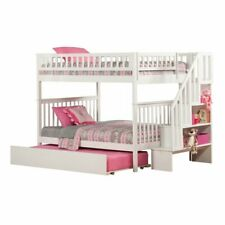 Leo & Lacey Full Over Full Staircase Trundle Bunk Bed