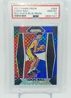 2017-18 Prizm Lonzo Ball Red White Blue Rookie #289 PSA 10 Lakers Pelicans RC