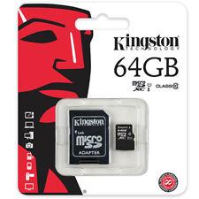 Kingston Carte Mémoire 64 Go Micro SD SDXC Avec Adaptateur class 10