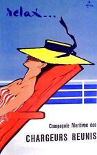 Rare Rene Gruau Oversize Fine Art Relax Print