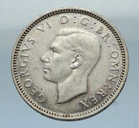 1942 UK Great Britain United Kingdom KING GEORGE VI Silver SIXPENCE Coin i66846