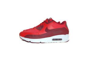 Nike Sneakers Red Air Max 90 Ultra 2.0 Essential Running Men Size 9 875695 600