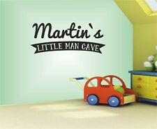 Personalised Littler man Cave Wall art Decal Sticker  Home Decoration