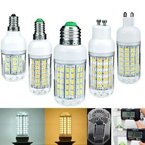 1PCS 5 PCS 10PCS  E27 5730SMD LED Corn Bulb 96LED 110V 220V Light White Lamp 034