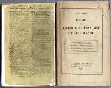 Essais de littérature française et allemande Bossert 1913
