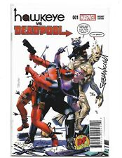 Hawkeye vs Deadpool #1 NM Dynamic Forces Signed By Fabian Nicieza With COA