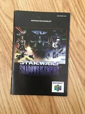 Star Wars Shadows Of The Empire Instruction Manual Only N64 Nintendo 64