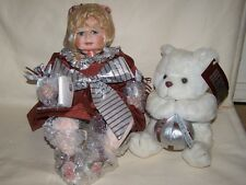 1997 Hershey Hugs Doll FayZah Spanos Box & Certificate Of Authenticity