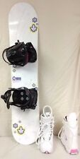 Girl's SNOWBOARD PACKAGE,  108cm Spice  with QUICK  bindings and  LACE  boots