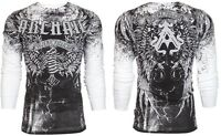 Archaic AFFLICTION Men THERMAL T-Shirt HOLY MAN Wings Tattoo Biker M-3XL $58