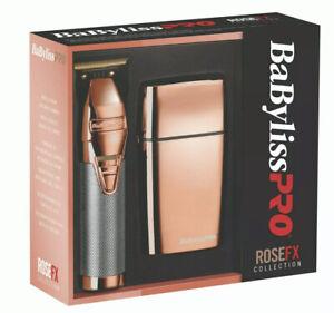 Babyliss Pro ROSE FX FXHOLPK2RG rose gold copper Skeleton Trimmer & Shaver Combo