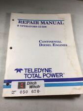 Teledyne Continental Diesel Engines TMD13, TMD20,TMD27 Repair & Operators Manual