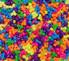 Multi Neon Colors 11mm Tri Beads 500pc beading kids crafts jewelry Made in USA