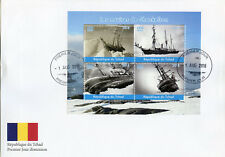 Chad 2018 FDC Shackleton Ships 4v M/S Cover Boats Nautical Exploration Stamps