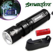 Skywolfeye 20000Lumens 2 Modes T6 LED Flashlight + 26650 Battery + Smart Charger