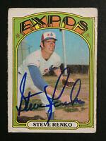 Steve Renko Expos signed 1972 Topps Baseball card #307 Auto Autograph 1