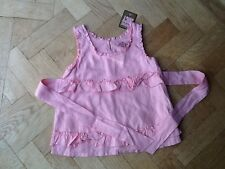 NWT Juicy Couture New & Gen. Girls Age 8 Pink 100% Cotton Frill Sleeveless Top
