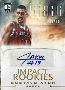 2012-13 Panini Intrigue Basketball #70 RC 08/10 Gustavo Ayón Autograph Bucks NBA