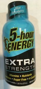 Lot of 24 5-hour Energy Extra Strength, Blue Raspberry, 1.93 oz,  7/21 Expiry