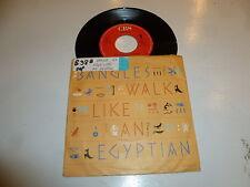 """THE BANGLES - Walk Like An Egyptian - 1985 Dutch 2-track 7"""" Juke Box Single"""