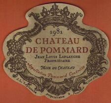 Ancienne Etiquette de Vin-Bourgogne-Chateau de Pommard -J.L. Laplanche - N°385