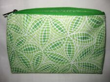 Clinique Cosmetic Makeup Travel Bag Pouch Multi-Green and White