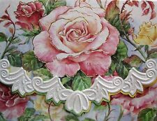 Carol Wilson Fine Arts Stationery 10 Blank Note Cards Envelopes Pink Roses Roses