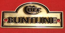 Colt Firearms Factory Single Action Army Brass Enamel Display Case Plaque