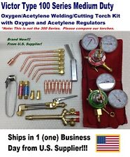 VICTOR TYPE 100FC CUTTING/WELDING TORCH KIT WITH TIPS, REGULATORS, MORE !!!