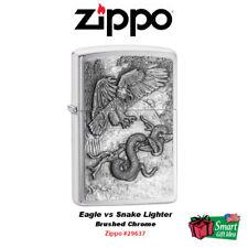 Zippo Eagle vs Snake Lighter, Brushed Chrome #29637