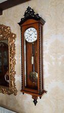 More details for antique single weight austrian vienna regulator wall clock. biedermeier style .