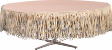 Natural Paper Raffia Table Skirt Birthday Party Supplies~9 Feet Long X 29in Wide