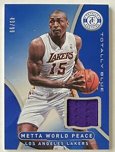 Metta World Peace 2012-13 Totally Certified JERSEY #43/99 Lakers Ron Artest